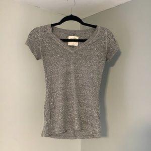 Abercrombie & Fitch Grey V-Neck T-Shirt
